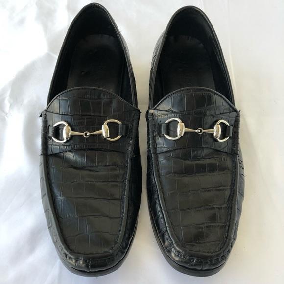136c2b95204 Gucci Other - Gucci Shoes Black Horsebit Crocodile Loafer